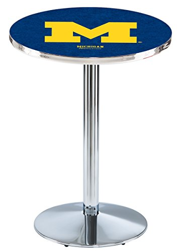 Holland Bar Stool L214C University of Michigan Officially Licensed Pub Table, 28