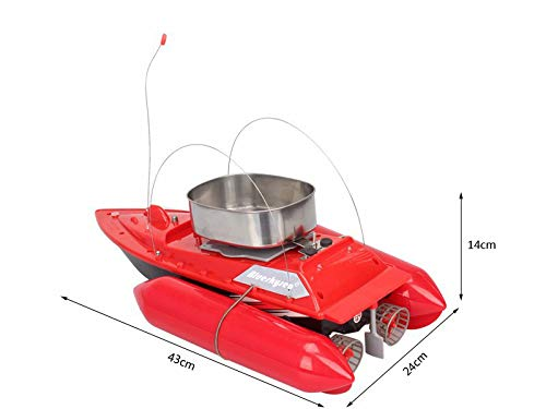 Blueskysea Updated T10 Mini RC Bait Boat Carp Fishing Boats 300M Remote Control Anti Grass Wind 1200G for Fish Finder Ship Red