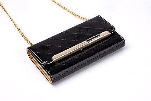 Handbag Magnetic Case Phone Case Slots X Wallet iPhone amp; Women Leather Back Card Case Flip Ayans Black with iPhone X Cover Wrist Case Strap Detachable A fvzqPUY