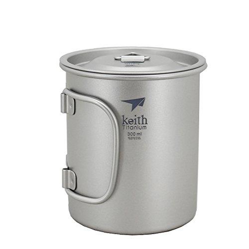 Keith - Taza de titanio 300 ml, alta resistencia y calidad