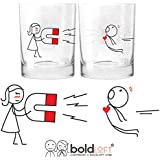 BOLDLOFT You're Irresistible His and Hers Drinking Glasses-Valentines Day Gifts for Boyfriend,Husband Gifts from Wife,Anniversary Gifts for Boyfriend,Gifts for Him,Couples Gifts,His and Hers Gifts