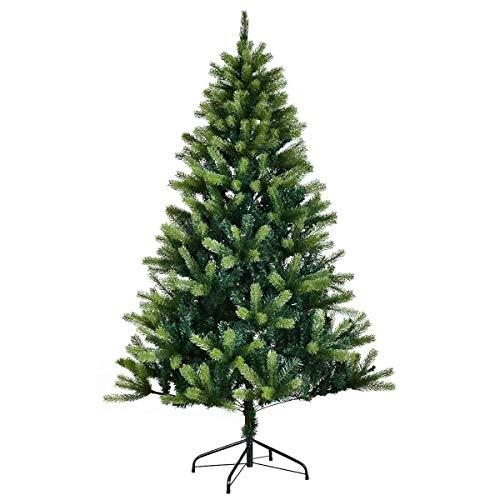 l Christmas Tree PE & PVC Mixed Needles Carolina Pine Tree with Metal Stand ()