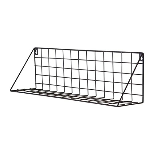 WG 2Pcs Creative Wall Rack Japanese Style Wall Wrought Iron Wall Hanging Basket Storage Rack Storage Basket Free Punching Rack Partition,Chrome by WG