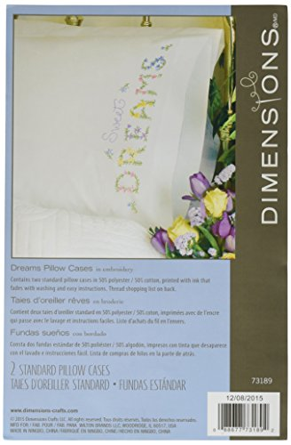 Embroidery Pillowcase Kits (Dimensions Needlecrafts Embroidery, Dreams Pillow Cases)
