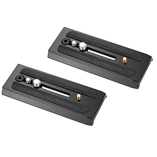 Neewer 2-Pack Rapid Connect Quick Shoe Sliding Plate Camera Mounts with 1/4 inch and 3/8 inches Mounting Screws for Manfrotto 501HDV 503HDV 701HDV MH055M0-Q5 by Neewer