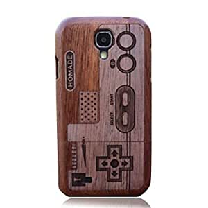 WEV Game Console Wood Protective Case Cover for Samsung Galaxy S4 i9500