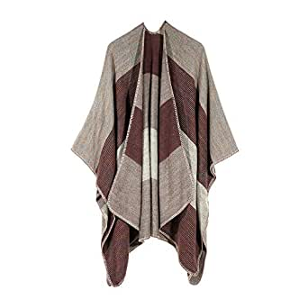 iLXHD Fashion Women Winter Knitted Cashmere Poncho Capes
