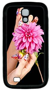 Nail And Flower Custom Designer Samsung Galaxy S4 Case and Cover - TPU - Black
