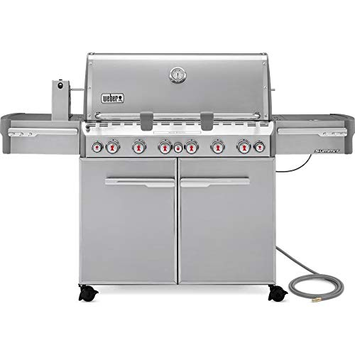 - Weber Summit S-670 Natural Gas Grill With Rotisserie, Sear Burner & Side Burner