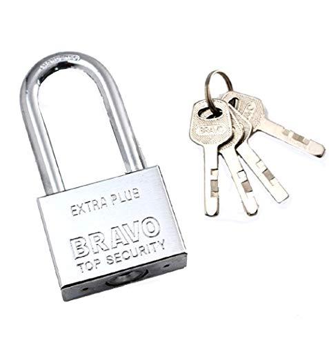 (50mm Long Beam Stainless Steel Padlock Square Blade Open Anti-Theft Lock Door Lock )