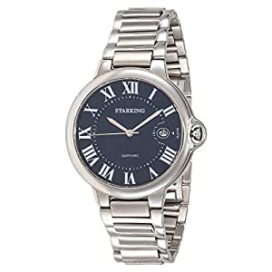 Starking Men's Blue Dial Stainless Steel Band Watch - BM0899SS17