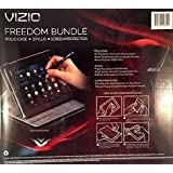 VIZIO Freedom Bundle for Vizio Tablet, Black (Folio Case, Stylus, Screen Protector)