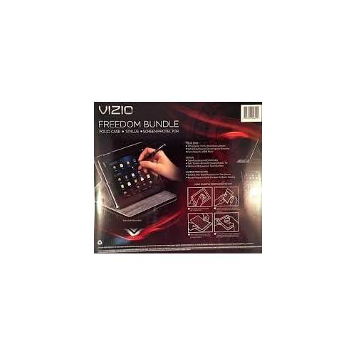VIZIO Freedom Bundle for Vizio Tablet, Black (Folio Case, Stylus, Screen Protector)