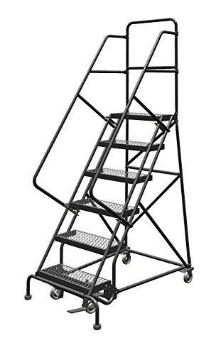 Tri-Arc UKDSR106242 U-Design Configurable 6-Step, 56 Degree Incline Rolling Ladder with 24