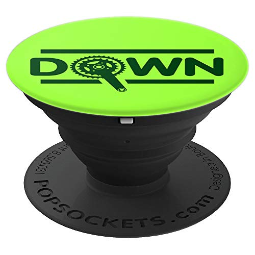 Green Down Downhill Pedal Chain Bicycle lover christmas gift - PopSockets Grip and Stand for Phones and Tablets
