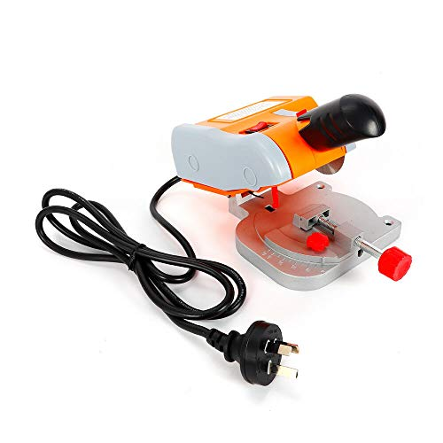 Mini Benchtop Cut-Off Miter Saw Mini Cut Off Saw Bench Top 2″ Accurate Precision Cuts Metal Wood Cutting Cutter 0-45° Adjust Miter Gauge Metal Wood Cutting Tool (US STOCK)