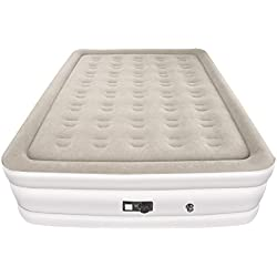 Air Mattress, TopElek Inflatable Airbed with Built-in Electric Pump, Elevated Air Bed, Height 19'' , Queen Size, for Guest, Rest, Camping, Travelling, Midday Break
