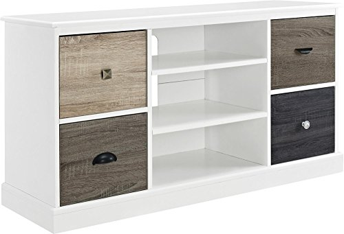 Ameriwood Home Mercer 50'' TV Console with Multicolored Door Fronts, White by Altra Furniture
