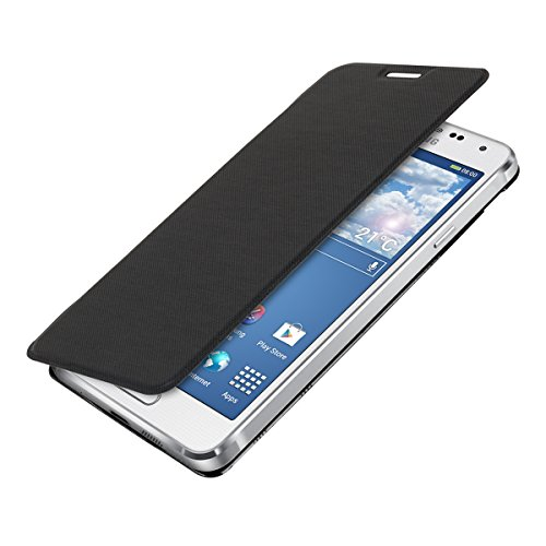 kwmobile Practical and chic FLIP COVER case for Samsung Galaxy Alpha in black