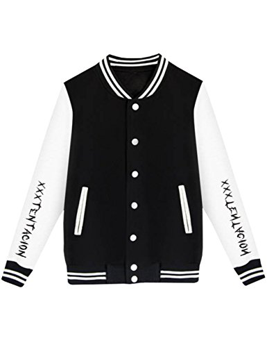 Detroital Unisex Xxxtentacion Baseball Jacket Sad Heart Graphic Rap Sweatshirt