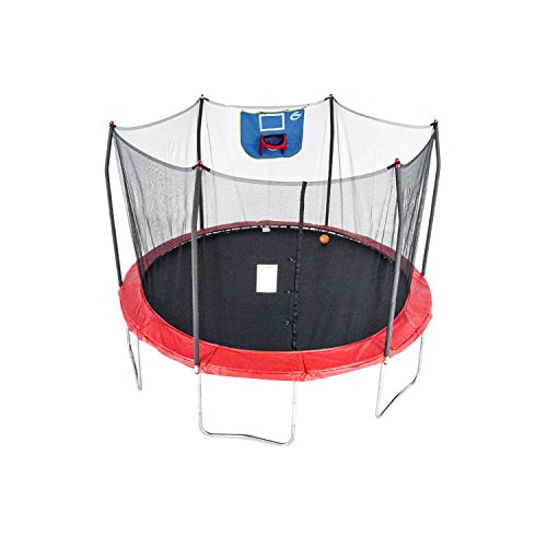Skywalker Trampolines 12-Foot Jump N' Dunk Trampoline with Enclosure Net - Basketball Trampoline