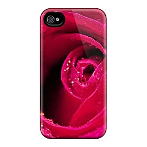 [vzW11039LuoX]premium Phone Cases For Iphone 6plus/ Red Rose Close Up Cases Covers