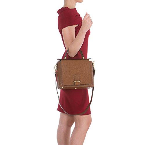 Arcadia Italian bandoulière Marron Grab Leather main à Aprile à Sac sac rw45qrC