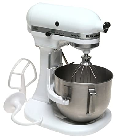 Factory Reconditioned KitchenAid RRK5AWH 5 Quart Mixer, White