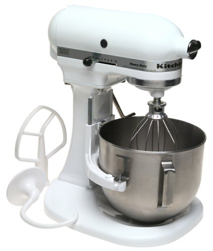 Factory Reconditioned KitchenAid RRK5AWH 5 Quart Mixer, White