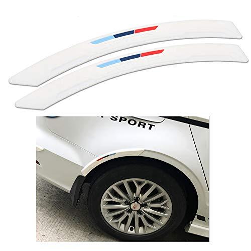 COSMOSS Car Wheel Wells Fender Edge Trim 16 Inch White Curve Side Bumper Guard