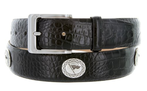 [Masters Italian Calfskin Golf Belt With Golf Flag Conchos] (Golf Concho Belts)