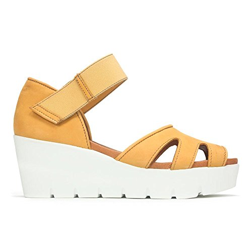 Bos. & Co. Sharon Low-Wedge Sandal Yellow 6sterJK9rm