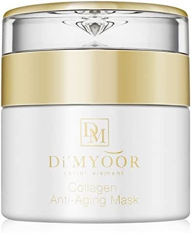 Di'Myoor Collagen Anti Aging Mask for Face and Neck – Spa Quality Facial Treatment Reduces Wrinkle, Fine Lines, Blackheads & Fights Acne – Best Moisturizing Skincare for All Skin Types - Cruelty-free