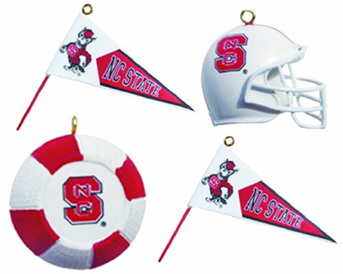 NCAA North Carolina State Wolfpack Four-Pack Sports Ornaments