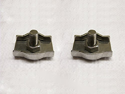 x2 6MM Stainless Steel Simplex Wire Rope Grips - Marine Boat Clamps by Secure Fix Direct