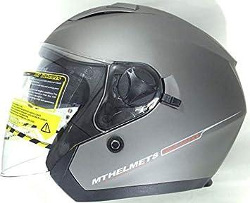 MT HELMETS CASCO DE MOTO TIPO JET BOULEVARD (XS, TITANIO)