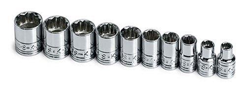 SK 1340 10 Piece 1/4-Inch Drive 12 Point 5-Millimeter to 14-Millimeter Socket Set