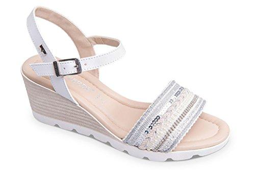 VALLEVERDE Bianco Women's VALLEVERDE Women's Fashion Fashion Sandals 5qwSYxttO
