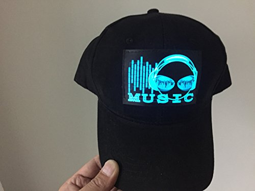 Accessory 4u inc Dj LED Flashing Sound Activated Music Headphone Rave Light up Disco Hat Cap