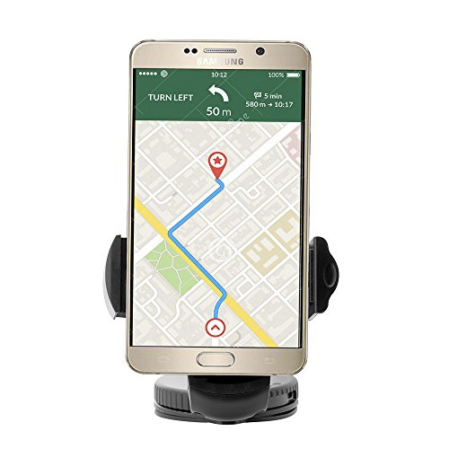 Affordable Universal Windshield Dashboard Suction Cup Car Mount Holder for iPhone Androids Smartphone GPS and Most Portable Devices