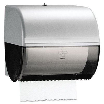 "Kimberly Clark Omni Roll Paper Towel Dispenser (09746), Compact, Manual, 10.5"" x 10"" x 10"", Smoke (Black), 1 / Order"
