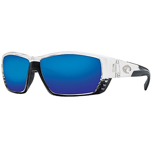 Price comparison product image Costa Del Mar Tuna Alley Sunglasses - Crystal Frame - Blue Mirror 580G lens