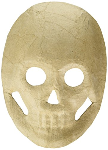 Darice Paper Mache Skull Mask - 8.5 inches -