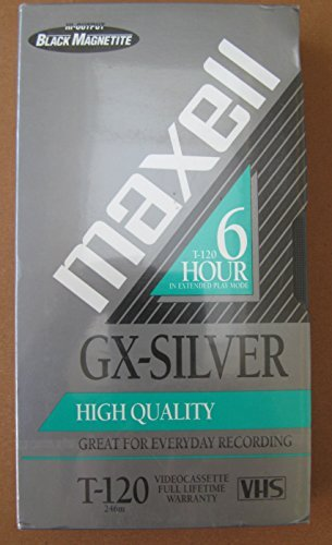 Maxell T-120 GX-Silver High Quality VHS Video Cassette Tape by D4976