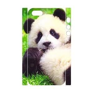 3D Case For Iphone 6 4.7 Inch Cover Case, Cute Panda Lyind Down on Grass Hard Case For Iphone 6 4.7 Inch Cover (White)