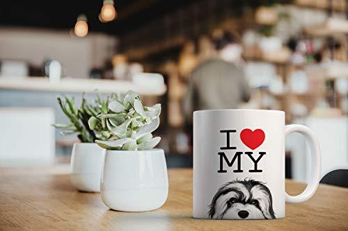 MUGBREW I Love My White Silver Havanese Dog Ceramic Coffee Gift Mug Tea Cup, 11 OZ 6