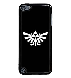 Zelda Iforce Black Hardshell Case for iPod Touch 5G iTouch 5th Generation