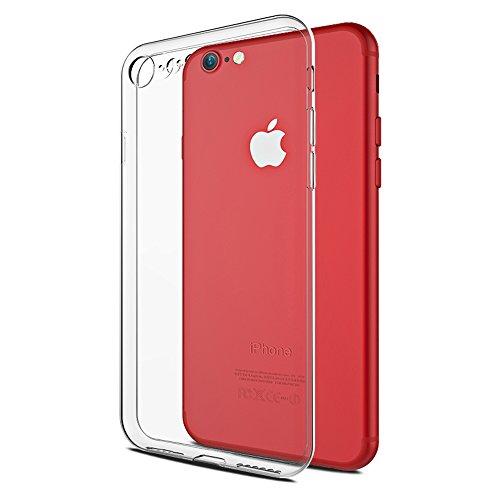 iPhone 8 Case,iPhone 7 case,Novo Icon Clear Soft TPU Case Rubber Silicone Skin Cover Slim Case Compatible with iPhone 7 iPhone (Clear Soft Silicone Skin)