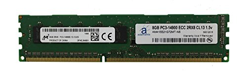 Micron Original 8GB (1x8GB) Server Memory Upgrade for Dell Poweredge DDR3 1866MHz PC3-14900 ECC Unbuffered DIMM 2Rx8 CL13 1.5v RAM DRAM Adamanta -