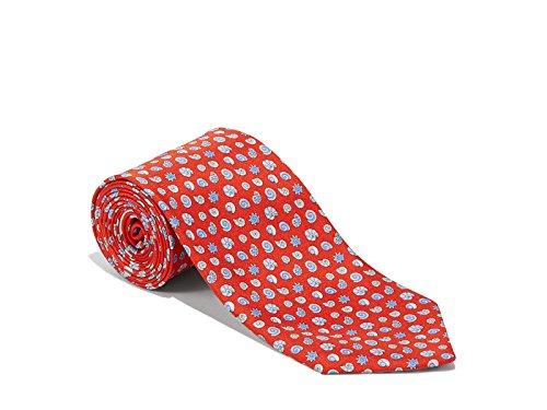 Salvatore-Ferragamo-Red-Silk-Sea-Shell-Neck-Tie